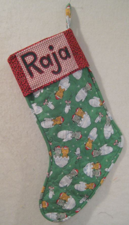 Stocking for Raja