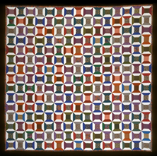 "Spool Quilt, 1988 91"" x 91"" Photography by Sibila Savage"