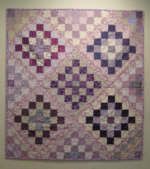 "Lavender Medley, 2009 38.5"" x 41.5"""