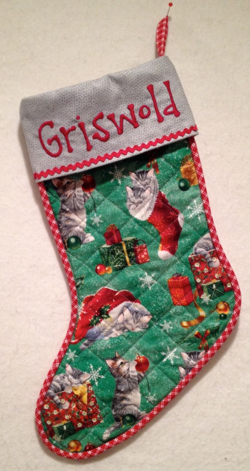 Stocking for Griswold, 2014