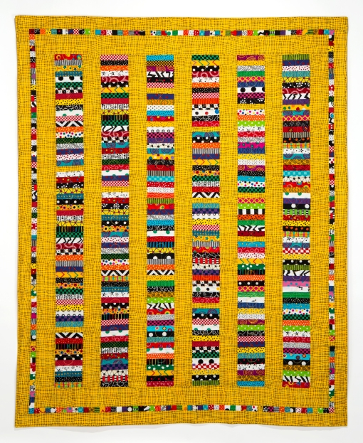 """Happy Quilt II, 2015 60"""" x 74"""" Photography by Sibila Savage"""
