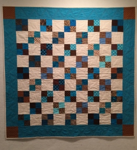 """Turquoise Four Patches, 2015 44.5"""" x 44.5"""""""
