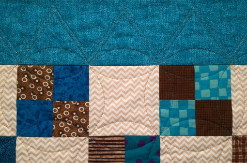 Turquoise Four Patches, Detail 2